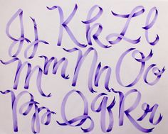 Ribbon Lettering with the New Pastel Dual Brush Pen Set - Tombow USA Blog