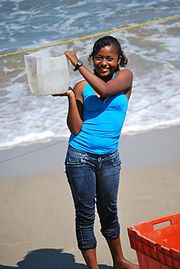 """Afro-Mexican girl at Punta Maldonado."""" The Costa Chica of Guerrero, Mexico has the largest population of Afro-Mexicans. Chicano, Mocha, Afro, Mexico People, Indian People, Black History Facts, Mexicans, African Diaspora, Black Books"""