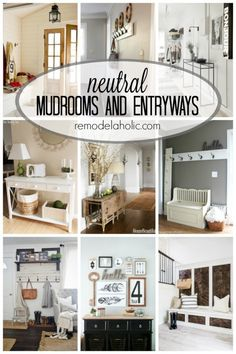 Neutral Mudrooms and Entryways via remodelaholic.com