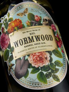 A secret gin recipe taken to the grave that now, years later, has been mysteriously resurrected for all to enjoy. Bottled and distilled by Wormwood & Sons.