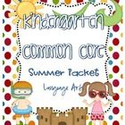 Common Core Summer Review Packet {Kindergarten}   This packet can be used as an end of the year classroom review or be sent home with students at th...