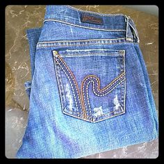 COH RIC RAC BOOT SIZE 27 Ric  rac  #108. Low waist stretch boot. Light distressing. Waist flat 31. Rise7.5. Inseam31.EUC Citizens of Humanity Jeans Boot Cut