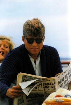 """President Kennedy and daughter Caroline aboard the """"Honey Fitz"""", (August 31, 1963)"""