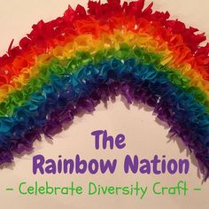 The Rainbow Nation Celebrate Diversity Craft: Great way to learn about South Africa! Diversity Activities, Art Activities, Holiday Activities, Creative Arts And Crafts, Creative Activities, Preschool Themes, Preschool Activities, Toddler Crafts, Crafts For Kids
