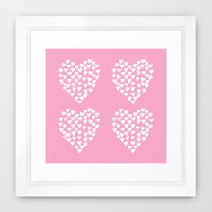 #hearts #heart #love #pink #white #projectm