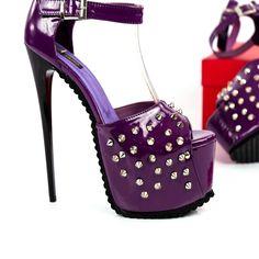 Thick Heels, Low Heels, Big Sizes, Platform High Heels, Strap Heels, Vegan Leather, Studs, Shoes Sandals, Pencil