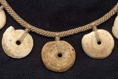 Katie Singer's Jewelry - New Guinea kwali shell necklace