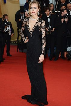 Red Carpet Glamour- CANNES 2013 - Cara Delevingne wearing Burberry gown and Chopard jewellery on the red carpet at 'The Great Gatsby' Premiere and Cannes Film Festival Opening Ceremony Cara Delevingne, Celebrity Gallery, Celebrity Style, Glamour, Red Carpet Gowns, Costume, Cannes Film Festival, Opening Ceremony, Festival Fashion