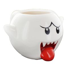 Show off your love of Super Mario Bros. with this officially licensed coffee mug by Just Funky! Quality white ceramic mug is molded in the shape of a ghostly Bo Disney Coffee Mugs, Funny Coffee Mugs, Disney Princess Mugs, Cute Tea Cups, Cute Marshmallows, Teapot Cookies, Glass Coffee Mugs, Coffee Cups, Halloween Mug