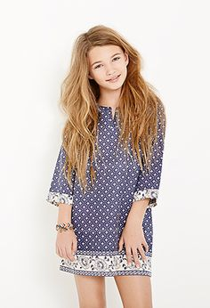 Abstract-Patterned Tunic Dress (Kids) | Forever 21 girls - 2000115476