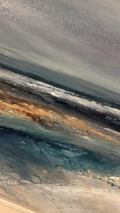 New original artwork inspired by the rugged North East coastline of the UK. Universal semi abstract seascape paintings by British artist Michael Claxton Abstract Painting Techniques, Abstract Drawings, Oil Painting Abstract, Texture Painting, Abstract Art, Seascape Paintings, Landscape Paintings, Venus Painting, Wall Art Wallpaper