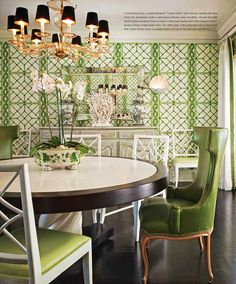Wallpaper & color. Inside A Palm Beach Bermuda-Style Bungalow - The Glam Pad
