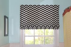 Super Easy Roman Shades using mini-blinds!