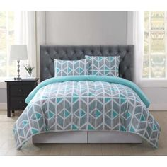 Shop for twin xl comforter at Bed Bath & Beyond. Buy top selling products like Garment Washed Solid Twin/Twin XL Comforter Set and Garment Washed Printed Reversible Twin/Twin XL Comforter Set. Shop now! Furniture, Comforter Sets, Zipcode Design, Home, Teal Comforter, King Comforter Sets, Bed, Bedding Stores, Bedding Sets