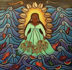"""""""Yemaya"""" Painting by Laura James"""