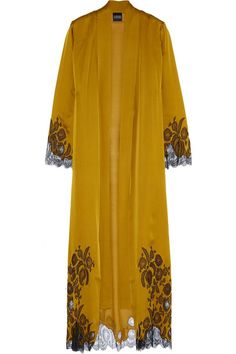 Shop on-sale Carine Gilson Chantilly lace-trimmed silk-satin robe. Browse other discount designer Lingerie & more on The Most Fashionable Fashion Outlet, THE OUTNET.COM - vanity fair lingerie, sezy lingerie, lingerie plus *ad