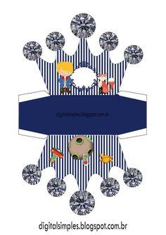 El Principito: Caja con Forma de Corona para Imprimir Gratis.