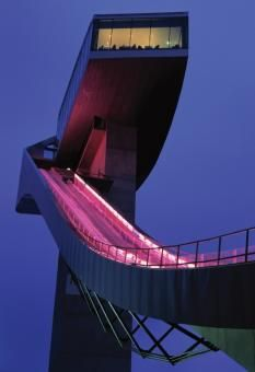 Skijump, cafe & viewing terrace  by Zaha Hadid #architecture #ski #austria