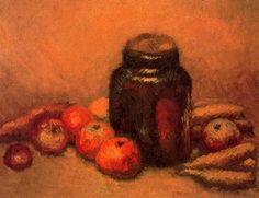 """Isidre Nonell Monturiol (1873 - 1911). """"Bodegón, 1910"""". Óleo sobre lienzo. 54,5 x 67 cms. Museo de Arte Moderno. Barcelona. España."""