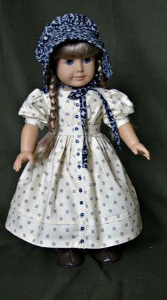1850 Doll Dress/American Girl Kirsten. $60.00, via Etsy.