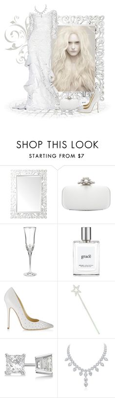 """""""White witch"""" by amethyst0818 ❤ liked on Polyvore featuring Renwil, Oscar de la Renta, Waterford, philosophy, Jimmy Choo, Allurez, halloweencostume and Halloween2015"""
