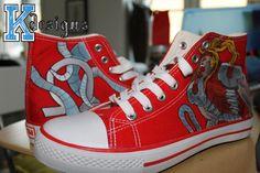 Omega Red Custom shoes