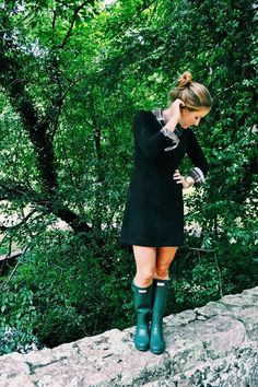 Green Hunter Boots, yes please!
