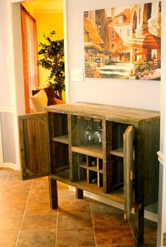 liquor cabinet by on etsy