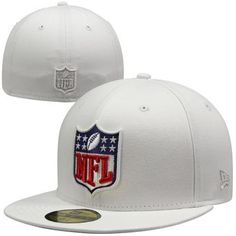 New Era NFL Shield 59FIFTY Fitted Hat - White