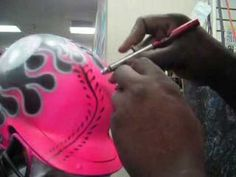 airbrushing a baseball helmet #2