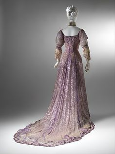 Evening dress Designer: Henriette Favre Date: 1902 Culture: French Medium: silk, sequins