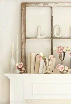 Lovely mantle decor