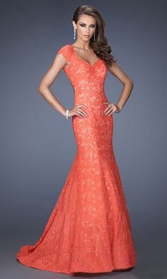 Elegant Trumpet/Mermaid Lace V-Neck Floor-length Prom/Wedding Party /Evening Dress 2014 New Style