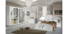 Italia Bútor - Zaffiro klasszikus olasz hálószoba garnitúra, fehér színben 30% kedvezménnyel és ingyen ágyráccsal!