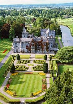 Beautiful Adare Manor by unknown author. Repinned by WI/IE. _____________________________ Do feel free to visit us on http://www.wonderfulireland.ie/inland-south/adare-2/#/ for lots more pictures and stories of beautiful Ireland.