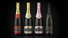 Premium packaging redesign - Deutz - Tried&True Design Champagne Deutz, Pernod Ricard, Print Finishes, Packaging Design, Bottle, Label, Wine, Logo, Big Houses