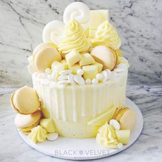 Don't dare sleep on the blondes because they are about to take over! Our Calif. Lemon Birthday Cakes, Yellow Birthday Cakes, 14th Birthday Cakes, Ice Cream Birthday Cake, Bithday Cake, Pretty Birthday Cakes, Pretty Cakes, 60th Birthday Cake For Ladies, White Chocolate Cake