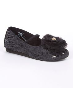 Black Sequin Ballet Flat