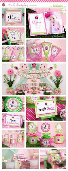 ♥ Pink Ladybug Birthday Party Theme ♥ Shop Here… Kids Birthday Themes, 4th Birthday Parties, Birthday Decorations, Pink Ladybug Birthday, Baby First Birthday, Search Party, Happy 1st Birthdays, Ladybugs, Party Ideas