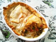 Homemade Chicken Pot Pie!!!! #yummy #ramekins #dinner