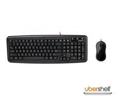GIGABYTE GK-KM5300 WIRED DESKTOP SET Key Caps, Usb, Computer Keyboard, Html, Mice, Compact, Desktop, Slim, Black
