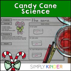 Candy Cane Science is filled with science and math activities using this yummy holiday treat! Students will taste test, dissolve candy canes in different liquids, and measure and much more! Pages can be stapled into a fun little book OR used individually.