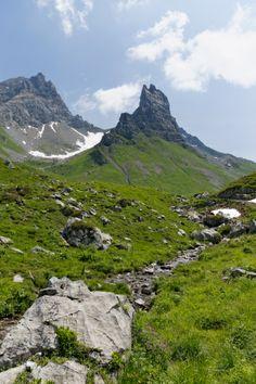 Rote Wand Mountain and Rothorn Mountain, Upper Laguz Alps, Grosses Walsertal Biosphere Park, Vorarlberg