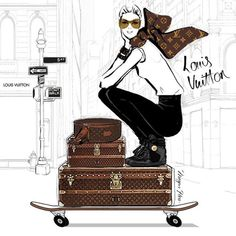 I'm obsessed! #travel #suitcases #louisvuitton megan hess