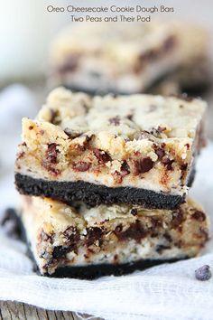oreo cheesecake cookie dough bars… wow