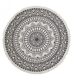 Round decorative carpet with mosaic-style print. Blue Carpet, Diy Carpet, Rugs On Carpet, Carpets, Outdoor Rugs, Outdoor Blanket, Outdoor Living, Faux Fur Area Rug, Fabric Rug