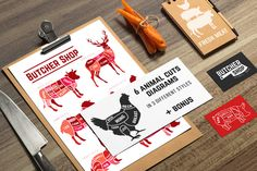 Farm animals cuts set in 3 styles by Dashikka on @creativemarket