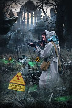 The alternative history of the Chernobyl Exclusion Zone. Apocalypse Character, Apocalypse Art, Apocalypse Survival, Cthulhu, Roadside Picnic, Post Apocalyptic Art, Fallout Art, Cyberpunk Art, Character Design Inspiration