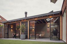 Outdoor Garden Rooms, Outdoor Living, Outdoor Decor, Garden Room Extensions, Backyard House, Paris Home, Garden Office, Garden Bar, Flat Roof