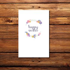 Happy Easter Printable Card on Etsy, $2.50